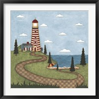 Red And White Lighthouse Fine Art Print