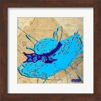 Blue Floppy Purple Bow Fine Art Print