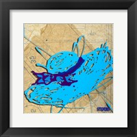 Blue Floppy Purple Bow Fine Art Print