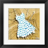 Blue On White Fine Art Print