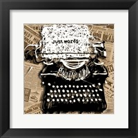 Just Words 1 Fine Art Print