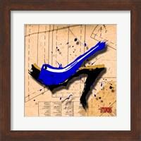Suede Heel Blue Fine Art Print