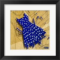 White On Blue Fine Art Print