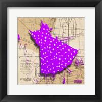 White On Purple Fine Art Print