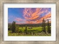 Sunset over a Log Cabin Fine Art Print