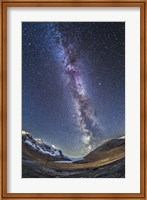 Milky Way over the Columbia Icefields in Jasper National Park, Canada Fine Art Print