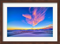 Sunset colors over White Sands National Monument, New Mexico Fine Art Print