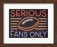 Neon Football Fans Fine Art Print