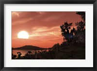 View from the surface of Earth-like exoplanet Gliese 581c Fine Art Print