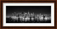 Illuminated  Manhattan Skyline, New York City Fine Art Print