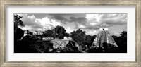 Ruins Of An Old Temple, Tikal, Guatemala BW Fine Art Print