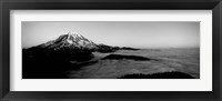 Sea of clouds with mountains in the background, Mt Rainier, Washington State Fine Art Print