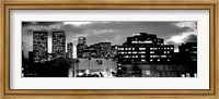 Building lit up at night in a city, Century City, Beverly Hills, California Fine Art Print