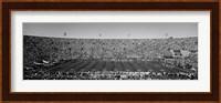 Football stadium full of spectators, Los Angeles Memorial Coliseum, California Fine Art Print