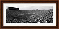 Football stadium full of spectators, Notre Dame Stadium, South Bend, Indiana Fine Art Print