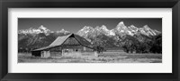 Old barn on a landscape, Grand Teton National Park, Wyoming Fine Art Print