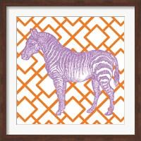 Bright Menagerie Zebra Fine Art Print