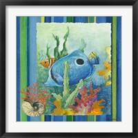 Tropical Fish IV (striped background) Fine Art Print