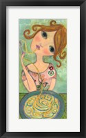 Big Eyed Girl Bon Appetit Fine Art Print