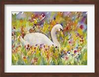 Colorful Swan Fine Art Print