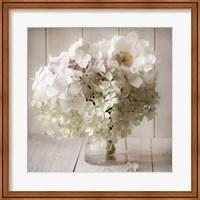 White Flower Vase Fine Art Print