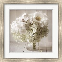 White Flower Vase Fine Art Print