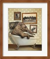 Elephant In Tub Fine Art Print