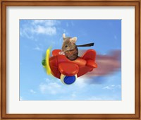Flying Mouse Fine Art Print