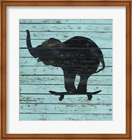 Elephant On Skateboard Fine Art Print
