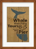 Whale Sign On Wood 1 Fine Art Print