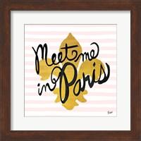 Meet Me in Paris Black and Gold Fine Art Print
