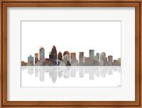 Charlotte NC Skyline BW 1 Fine Art Print