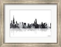 Chicago Illinois Skyline BG 1 Fine Art Print
