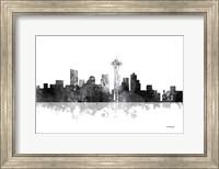 Seattle Washington Skyline BG 1 Fine Art Print