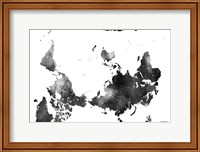 Upside Down Map Of The World BG 1 Fine Art Print