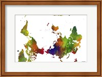 Upside Down Map Of The World Clr 1 Fine Art Print