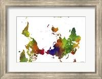 Upside Down Map Of The World Clr 1 Fine Art Print