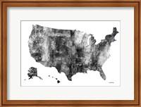USA Map BG 1 Fine Art Print