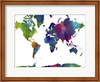 World Map Clr 1 Fine Art Print