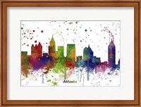 Atlanta Georgia skyline Multi Colored 1 Fine Art Print