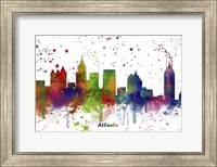 Atlanta Georgia skyline Multi Colored 1 Fine Art Print