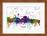 Augusta Maine Skyline Multi Colored 1 Fine Art Print