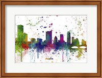 Austin Texas Skyline Multi Colored 1 Fine Art Print