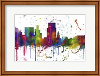 Boise Idaho Skyline Multi Colored 1 Fine Art Print