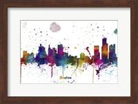 Boston Mass Skyline Multi Colored 1 Fine Art Print
