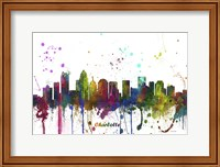 Charlotte NC Skyline Multi Colored 1 Fine Art Print