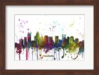 Charlotte NC Skyline Multi Colored 1 Fine Art Print