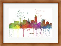 Lincoln Nebraska Skyline Multi Colored 1 Fine Art Print