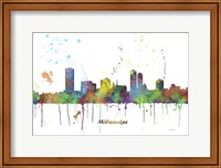 Milwaukee Wisconsin Skyline Multi Colored 1 Fine Art Print