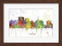 Oakland California Skyline Multi Colored 1 Fine Art Print